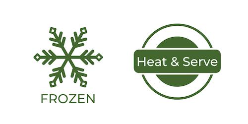 frozen - heat & serve